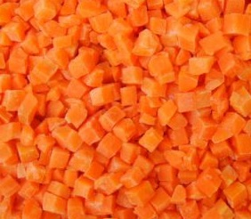 IQF frozen carrot dices