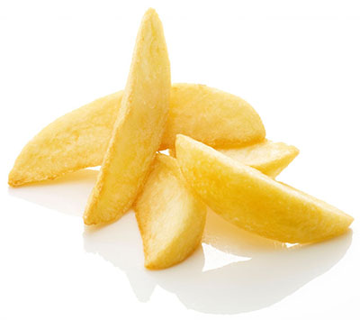 Wholesale frozen potatoes Wedges without skin